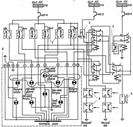 схема сигнализации шасси и